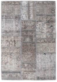 Patchwork - Persien/Iran Alfombra 105X159 Moderna Hecha A Mano Gris Claro/Gris Oscuro (Lana, Persia/Irán)