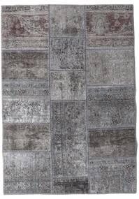 Patchwork - Persien/Iran Alfombra 106X152 Moderna Hecha A Mano Gris Claro/Gris Oscuro (Lana, Persia/Irán)