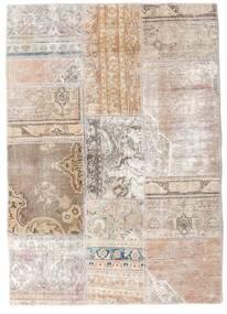 Patchwork - Persien/Iran Alfombra 107X152 Moderna Hecha A Mano Gris Claro/Blanco/Crema (Lana, Persia/Irán)