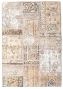 Patchwork - Persien/Iran Alfombra 107X154 Moderna Hecha A Mano Gris Claro/Beige/Blanco/Crema (Lana, Persia/Irán)