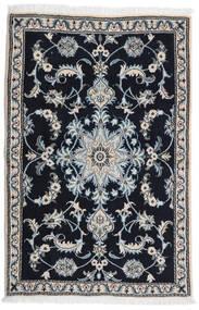 Nain Alfombra 89X134 Oriental Hecha A Mano Negro/Gris Claro (Lana, Persia/Irán)