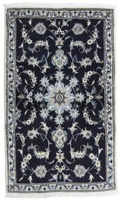 Nain Alfombra 85X141 Oriental Hecha A Mano Negro/Gris Claro (Lana, Persia/Irán)