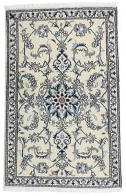 Nain Alfombra 86X135 Oriental Hecha A Mano Blanco/Crema/Gris Claro (Lana, Persia/Irán)