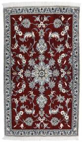 Nain Alfombra 84X141 Oriental Hecha A Mano Rojo Oscuro/Gris Claro (Lana, Persia/Irán)