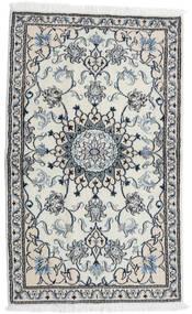 Nain Alfombra 87X143 Oriental Hecha A Mano Gris Claro/Blanco/Crema (Lana, Persia/Irán)