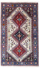 Yalameh Alfombra 80X132 Oriental Hecha A Mano Púrpura Oscuro/Beige (Lana, Persia/Irán)