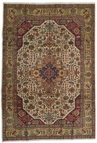 Tabriz Alfombra 210X300 Oriental Hecha A Mano Rojo Oscuro/Gris Oscuro (Lana, Persia/Irán)