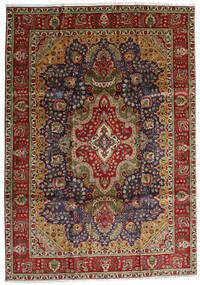Tabriz Alfombra 223X314 Oriental Hecha A Mano Negro/Rojo Oscuro (Lana, Persia/Irán)