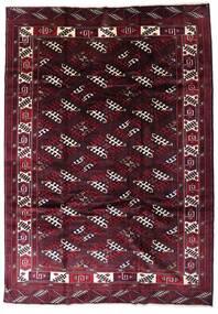 Turkaman Alfombra 213X302 Oriental Hecha A Mano Rojo Oscuro (Lana, Persia/Irán)