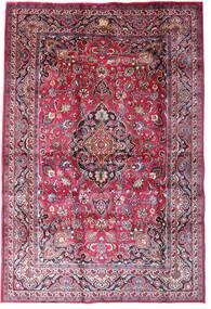 Mashad Alfombra 198X290 Oriental Hecha A Mano Púrpura Oscuro/Rosa Claro (Lana, Persia/Irán)