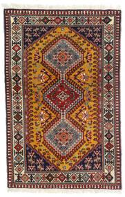 Yalameh Alfombra 81X126 Oriental Hecha A Mano Rojo Oscuro/Marrón Oscuro (Lana, Persia/Irán)