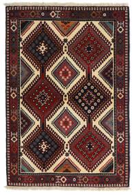 Yalameh Alfombra 104X152 Oriental Hecha A Mano Rojo Oscuro/Gris Oscuro (Lana, Persia/Irán)