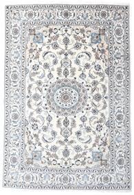 Nain Alfombra 196X287 Oriental Hecha A Mano Blanco/Crema/Gris Claro (Lana, Persia/Irán)