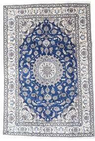 Nain Alfombra 195X290 Oriental Hecha A Mano Gris Claro/Blanco/Crema (Lana, Persia/Irán)