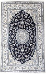 Nain Alfombra 197X313 Oriental Hecha A Mano Gris Claro/Negro (Lana, Persia/Irán)