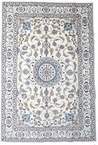 Nain Alfombra 189X283 Oriental Hecha A Mano Gris Claro/Beige/Blanco/Crema (Lana, Persia/Irán)