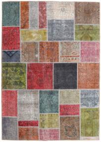 Patchwork - Persien/Iran Alfombra 165X232 Moderna Hecha A Mano Gris Oscuro/Rojo Oscuro (Lana, Persia/Irán)
