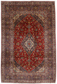 Keshan Alfombra 210X312 Oriental Hecha A Mano Rojo Oscuro/Gris Oscuro (Lana, Persia/Irán)