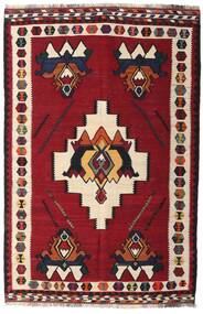 Kilim Vintage Alfombra 153X232 Oriental Tejida A Mano Rojo Oscuro/Marrón Oscuro (Lana, Persia/Irán)