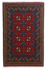 Afghan Alfombra 80X123 Oriental Hecha A Mano Rojo Oscuro/Azul Oscuro (Lana, Afganistán)