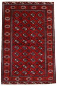 Turkaman Alfombra 194X293 Oriental Hecha A Mano Rojo Oscuro/Óxido/Roja (Lana, Persia/Irán)