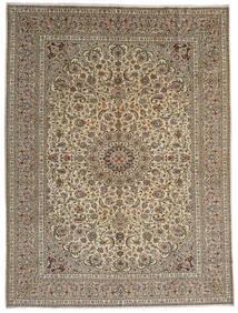 Keshan Alfombra 292X389 Oriental Hecha A Mano Gris Claro/Marrón Claro Grande (Lana, Persia/Irán)