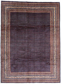 Sarough Mir Alfombra 268X365 Oriental Hecha A Mano Negro/Púrpura Oscuro Grande (Lana, Persia/Irán)
