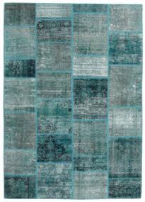 Patchwork - Persien/Iran Alfombra 168X234 Moderna Hecha A Mano Turquesa Oscuro/Azul Turquesa (Lana, Persia/Irán)