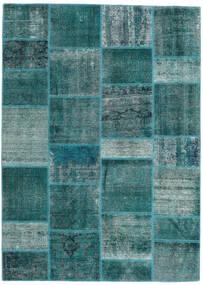 Patchwork - Persien/Iran Alfombra 167X231 Moderna Hecha A Mano Turquesa Oscuro/Azul Turquesa (Lana, Persia/Irán)