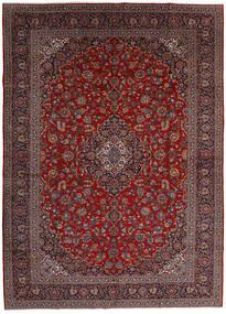 Keshan Alfombra 299X416 Oriental Hecha A Mano Rojo Oscuro/Gris Oscuro Grande (Lana, Persia/Irán)