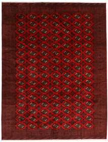 Turkaman Alfombra 296X383 Oriental Hecha A Mano Rojo Oscuro/Marrón Oscuro Grande (Lana, Persia/Irán)