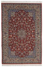Isfahan Sherkat Farsh Alfombra 200X300 Oriental Hecha A Mano Rojo Oscuro/Marrón Oscuro (Lana/Seda, Persia/Irán)