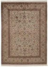 Cachemira Pura De Seda Alfombra 157X214 Oriental Hecha A Mano Marrón/Gris Claro/Marrón Claro (Seda, India)