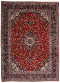 Keshan Alfombra 313X428 Oriental Hecha A Mano Rojo Oscuro/Gris Oscuro Grande (Lana, Persia/Irán)