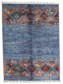 Shabargan Alfombra 153X204 Moderna Hecha A Mano Azul/Azul Claro (Lana, Afganistán)
