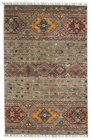 Shabargan Alfombra 103X158 Moderna Hecha A Mano Verde Oliva/Gris Oscuro (Lana, Afganistán)