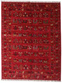 Shabargan Alfombra 154X201 Moderna Hecha A Mano Roja/Rojo Oscuro (Lana, Afganistán)
