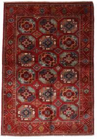 Moderno Afghan Alfombra 137X201 Moderna Hecha A Mano Rojo Oscuro (Lana, Afganistán)