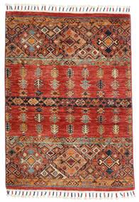 Shabargan Alfombra 88X125 Moderna Hecha A Mano Marrón Oscuro/Óxido/Roja (Lana, Afganistán)