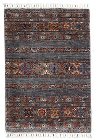 Shabargan Alfombra 84X119 Moderna Hecha A Mano Marrón Oscuro/Gris Oscuro (Lana, Afganistán)