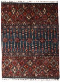 Shabargan Alfombra 154X202 Moderna Hecha A Mano Rojo Oscuro/Negro (Lana, Afganistán)