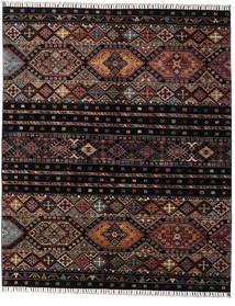 Shabargan Alfombra 156X190 Moderna Hecha A Mano Marrón Oscuro/Gris Oscuro (Lana, Afganistán)