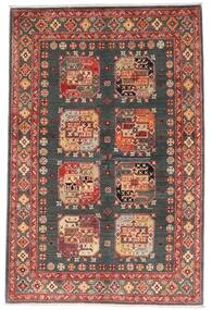 Kazak Alfombra 118X179 Oriental Hecha A Mano Rojo Oscuro/Gris Oscuro (Lana, Afganistán)