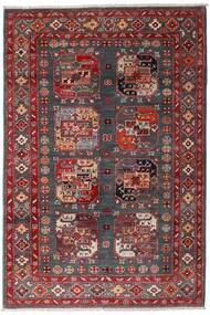 Kazak Alfombra 117X173 Oriental Hecha A Mano Rojo Oscuro/Marrón Oscuro (Lana, Afganistán)