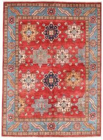 Kazak Alfombra 151X206 Oriental Hecha A Mano Rojo Oscuro/Óxido/Roja (Lana, Afganistán)