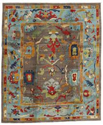 Kazak Alfombra 244X290 Oriental Hecha A Mano Marrón/Gris Claro (Lana, Afganistán)