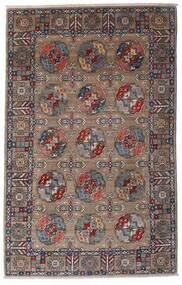 Kazak Alfombra 115X182 Oriental Hecha A Mano Gris Claro/Marrón Oscuro (Lana, Afganistán)