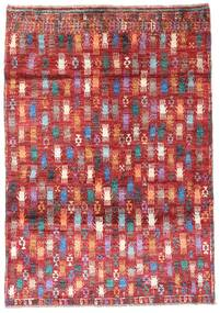 Moroccan Berber - Afghanistan Alfombra 115X169 Moderna Hecha A Mano Rojo Oscuro/Óxido/Roja (Lana, Afganistán)