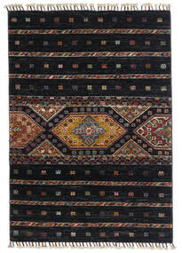 Shabargan Alfombra 87X124 Moderna Hecha A Mano Negro/Gris Oscuro (Lana, Afganistán)