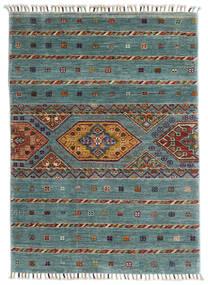 Shabargan Alfombra 85X117 Moderna Hecha A Mano Azul Turquesa/Gris Claro (Lana, Afganistán)